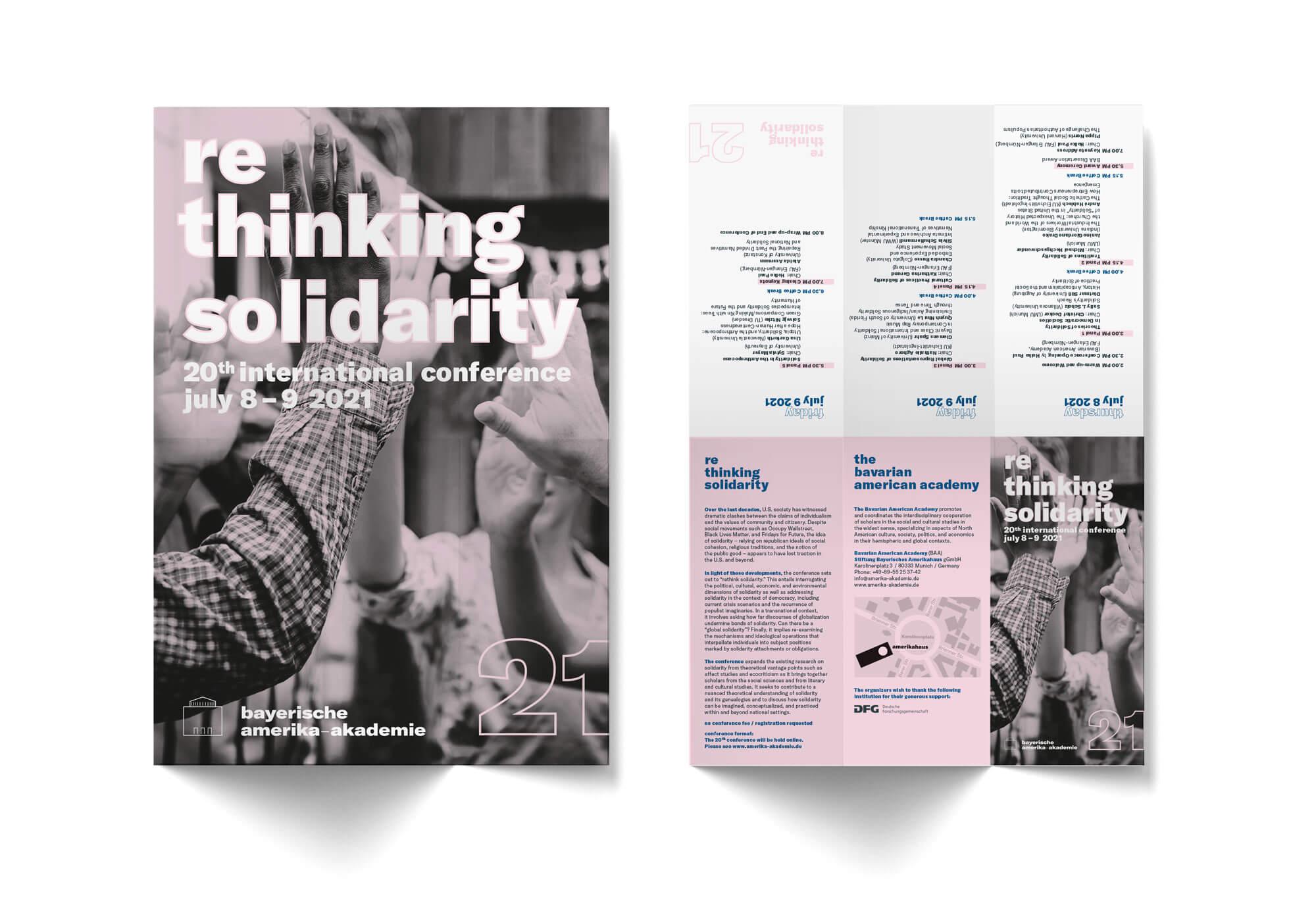 Rethinking Flyer Solidarity Bayerische Amerika-Akademie
